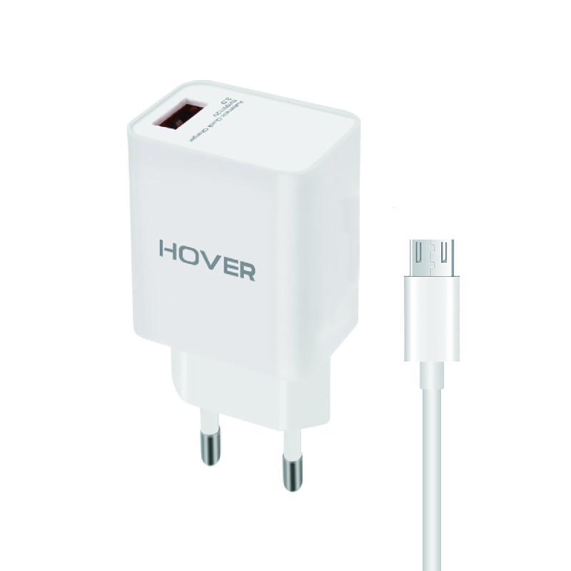 Chargeur Secteur Quick Charge 3.0 avec Câble Micro-USB 1 Mètre