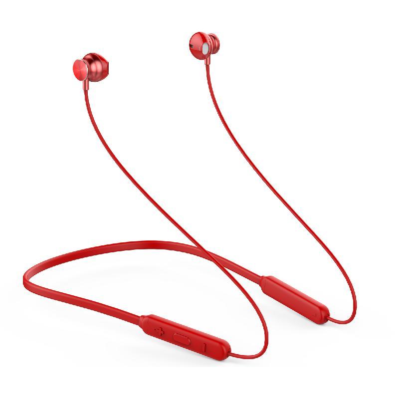 Ecouteurs Sport Bluetooth S117 Rouge (Embouts Ergonomiques)